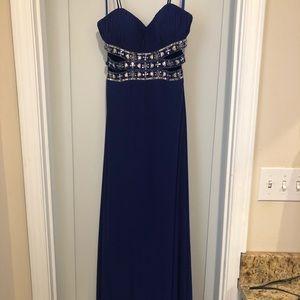 Purple Floor Length Prom Dress